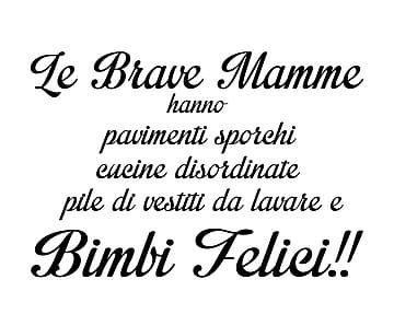 Wallsticker in vinilico Le brave mamme - 60x40 cm