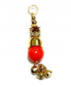 Tassels Saris Création Bijou fantaisie Perles Orange 6,5 cm Boucles d'oreilles