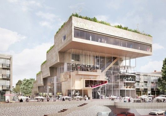 NL Architects-阿納姆文化中心 超大階梯式綠建築-欣建築-欣傳媒建築設計頻道