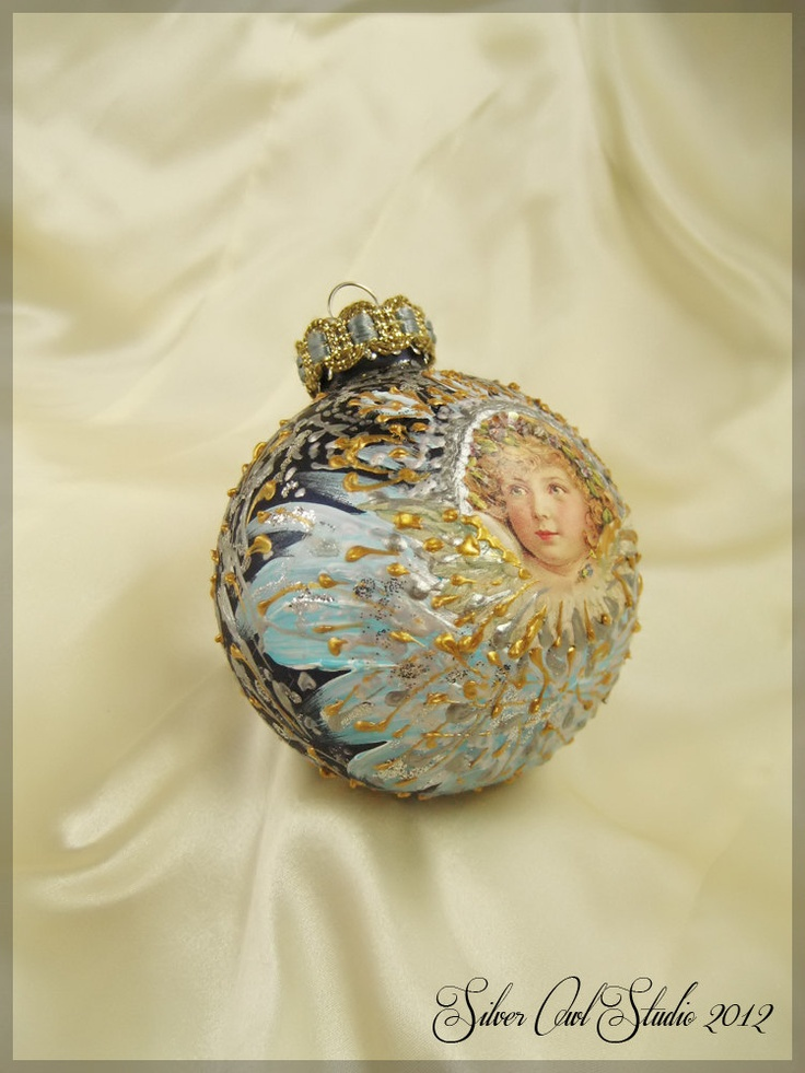 Victorian style Christmas ornament.  via Etsy.