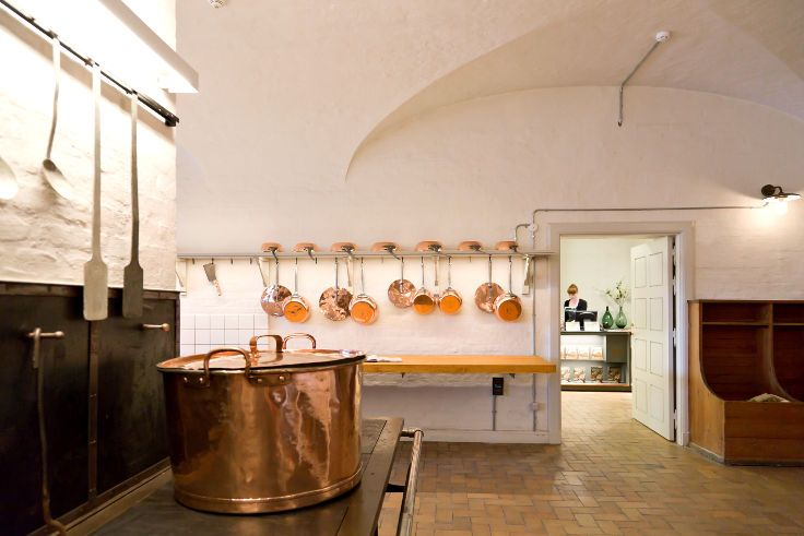 One of the largest copperware collections in Europe @Royal Kitchen, Christiansborg