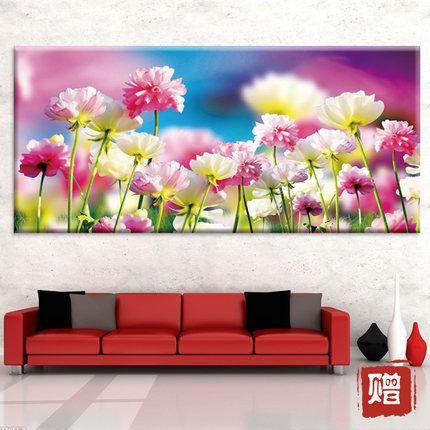 Нью печати стежка 5d 3d романтические розовые цветы цветут цветы существенное Современная серия гостиная