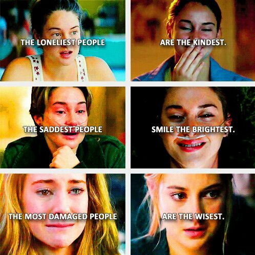 Ami Fenickey from The Spectacular Now Hazel Lancaster from The Fault in our Stars Tris Prior from the Divergent series