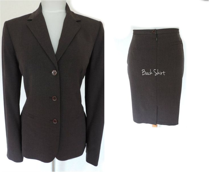 NEXT • LADIES SHORT PENCIL SKIRT SUIT - BROWN - BUSINESS OFFICE WORK 8 -10