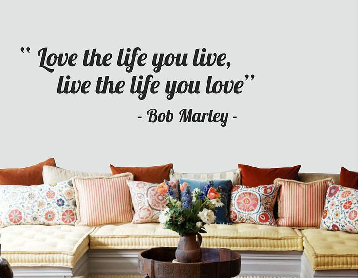 A fabulous wall sticker taken from the words of the great bob marley
