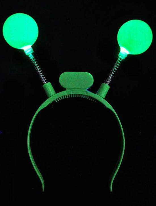 Flashing Green Ball Head Boppers