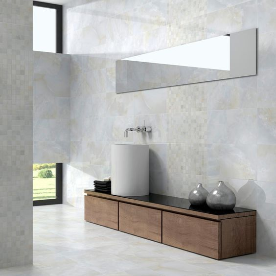 Contemporary Art Websites A Classic Range of Marble Effect Tiles that are suitable for the Bathroom and Kitchen areas Also available is a matching floor tile