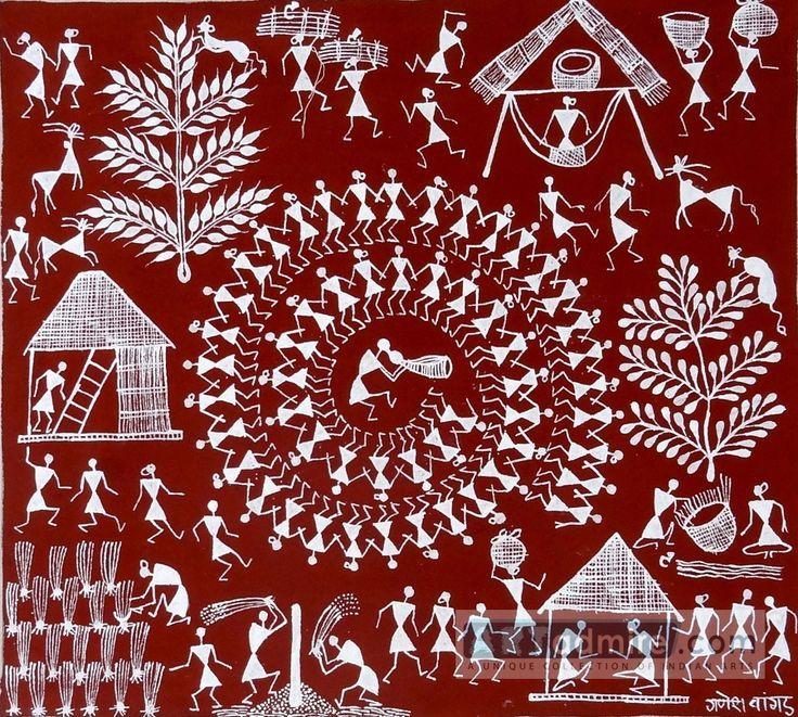 Warli Painting- Maharas Contemporary Warli, tribal   warli warli painting, how to warli , indian warli painting, warli painting idea, how to make warli painting, indian arts, #warli #warlipaintinghtra