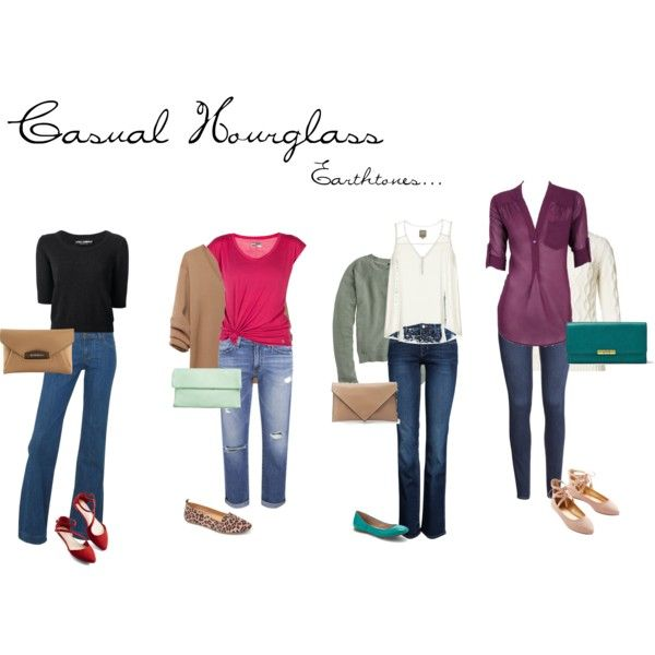 Casual Hourglass in Jeans with Earth tones.                                                                                                                                                     More