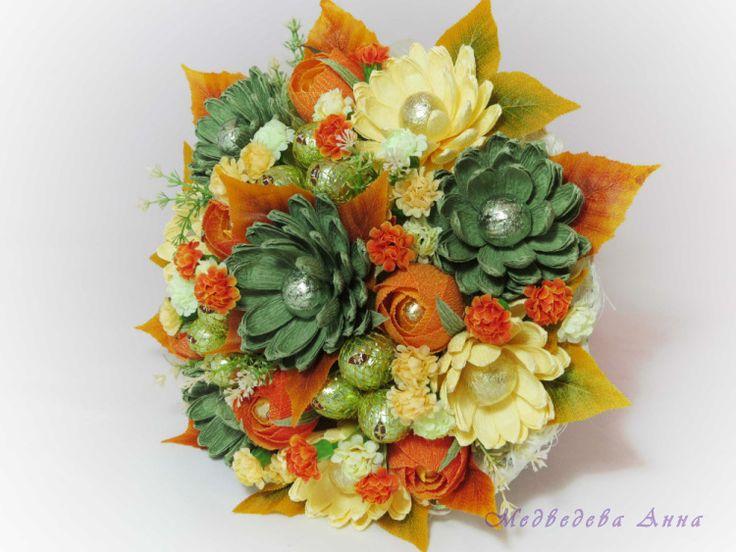Gallery.ru / Осенние хризантемы - Букеты из конфет - Mishko