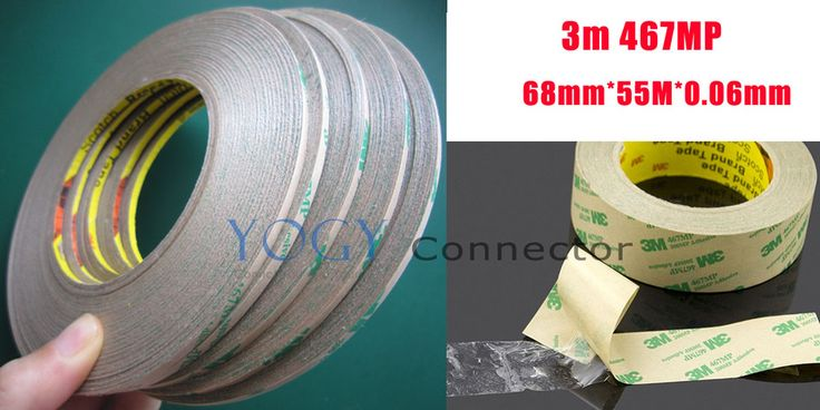 1x 68mm 3M 467MP 200MP Double Sided Sticky Tape for Durable Labels, Flexible Circuits