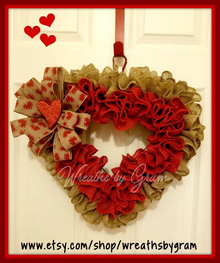 Valentine Wreath; Heart Wreath; Valentine Decor; Rustic Valentine; Burlap Wreath; Valentine Wreath for Front Door; Farmhouse Decor; Gift Ideas; Interior Design; Happy Valentine's Day; Valentines Day Decorations; Burlap Heart Wreath; #valentine #valentinesday #valentinesdaygiftideas #wreath #heart #valentinesdaydecorations #valentinespresent #burlapwreath #heartwreath #valentineswreath #valentinesdaywreath #giftideas #farmhousestyle #rusticdecor #wreathforfrontdoor