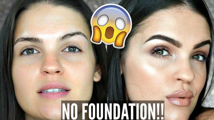 NO FOUNDATION Glowy Skin Makeup Tutorial | Julia Salvia
