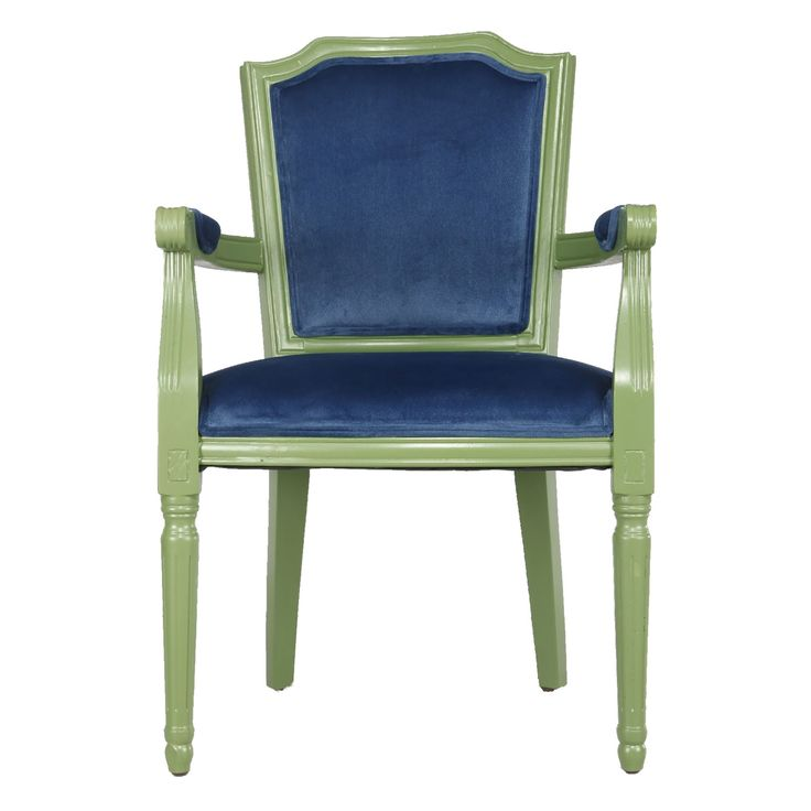Venetucci Collection Green And Blue Accent Chair A & B Home Arm Chairs Accent Chairs Accen