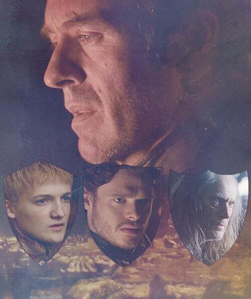 Stannis; Joffrey, Robb, Balon - Game of Thrones