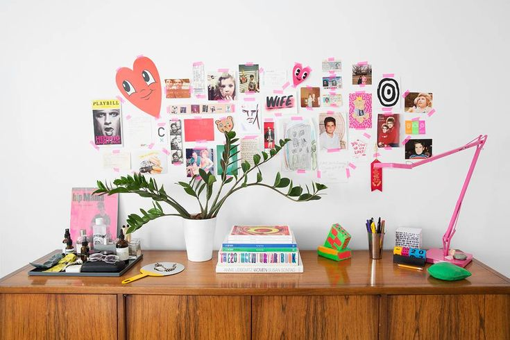 pink tape = instant inspo wall