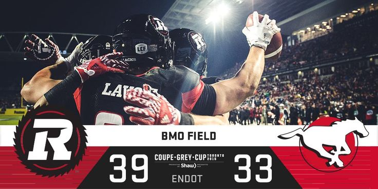 Red, Black & Grey!   The @REDBLACKS are your @Shaw_CFL #GreyCup Champions! #CFL