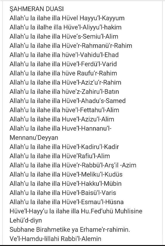 7 gün her gün 7 defa duaların kabulu için