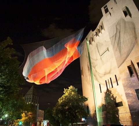 threaded neon installations - Captivating Light Installation Artists