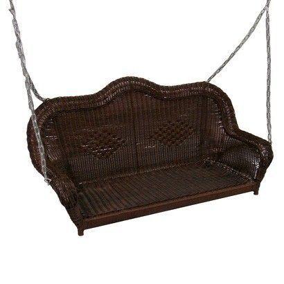 Chelsea Wicker Porch Swing