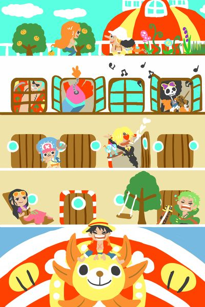 Straw Hat Pirates | One Piece | Credits to the owner of the picture, I don't own the pic