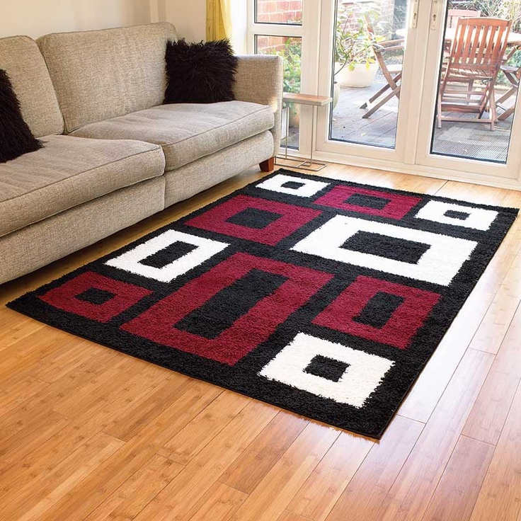 17 best images about red black rugs on pinterest navajo for Door mats argos