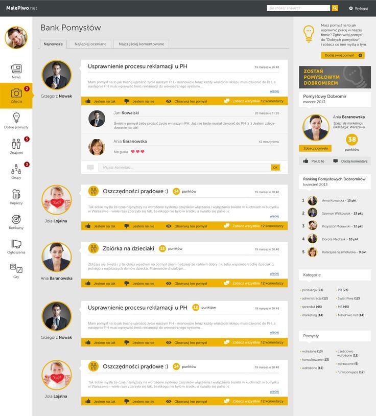 Social network layout proposal. For more visit: http://be.net/mareklasota
