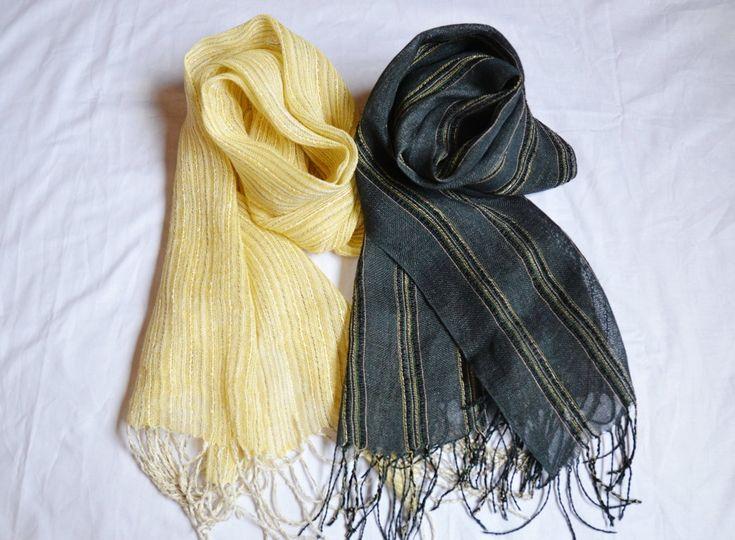 Woven linen scarfs