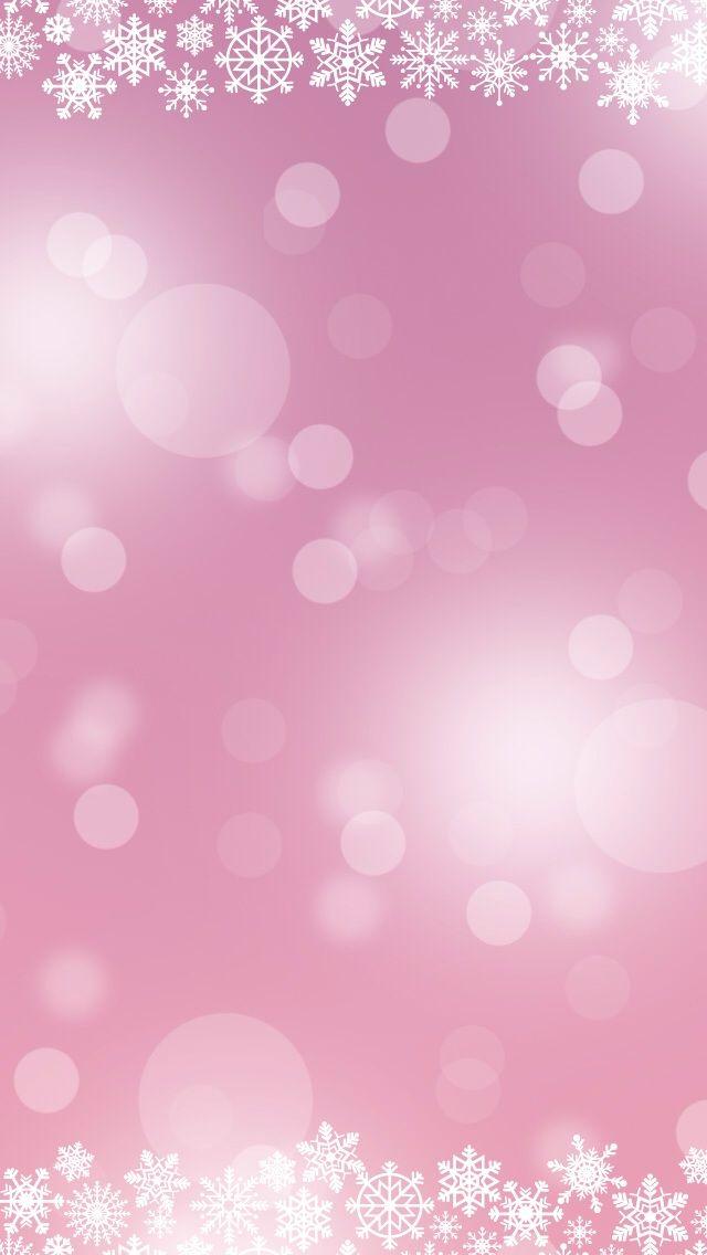 Phone Wallpaper. Navidad brillante y rosa.