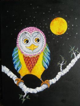 night owl Artist: Steyn, Barbara Artwork title: night owl Price: $150