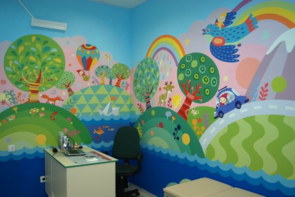 kid room by Masha Manun, via Behance