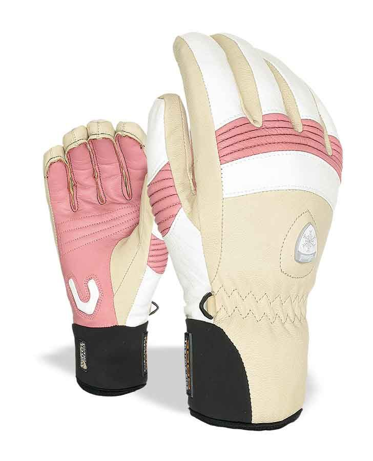 WOMEN'S OFF PISTE LEATHER. A ski glove with external seams for increased comfort and the perfect, firm pole grip. The highly breathable waterproof material on the back and the internal glove in wool guarantee heat in all weather conditions.