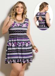 Vestido (Étnico e Floral) Plus Size