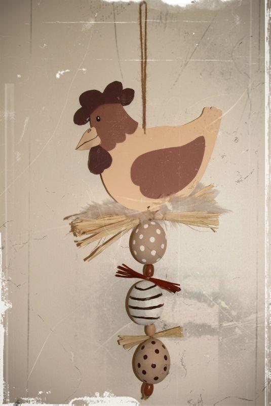 Mobile poule et oeufs