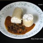 Rava Puttu and Kadala Curry