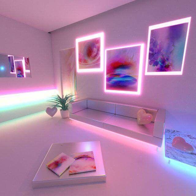 P I N T E R E S T Bellekalia Neon Room Aesthetic Rooms