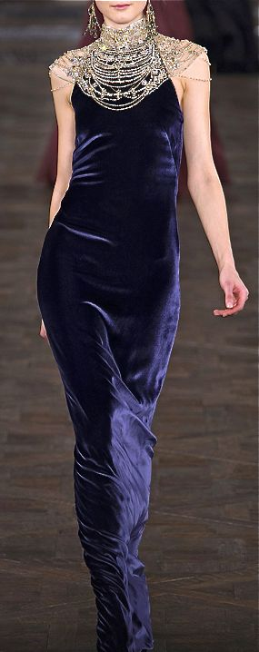 Ralph Lauren blue velvet dress gown.  The colour makes it.