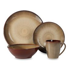 Sango Focus Brown 16-Piece Dinnerware Set - Bed Bath & Beyond