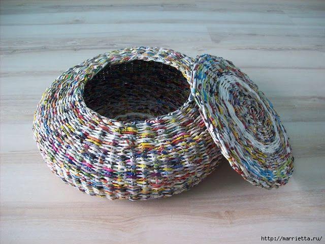 плетение из газетных трубочек (25) (640x480, 248Kb)