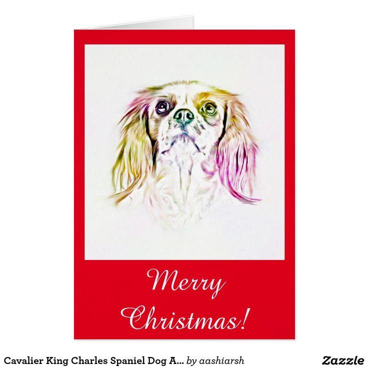 #Cavalier King #Charles #Spaniel #Dog #Art #Painting #Card