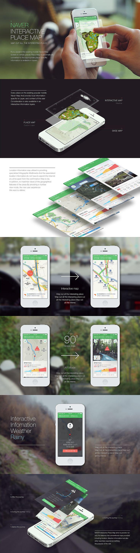 naver interactive map - mock up