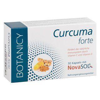 """CURCUMA FORTE mit NovaSol Curcumin """"Curcuma Forte"""" von BOTANICY enthält das neuartige, patentierte flüssige Curcumin von NovaSol® und unterstützt den Körper effektiver denn je, Entzündungen zu bekämpfen"""