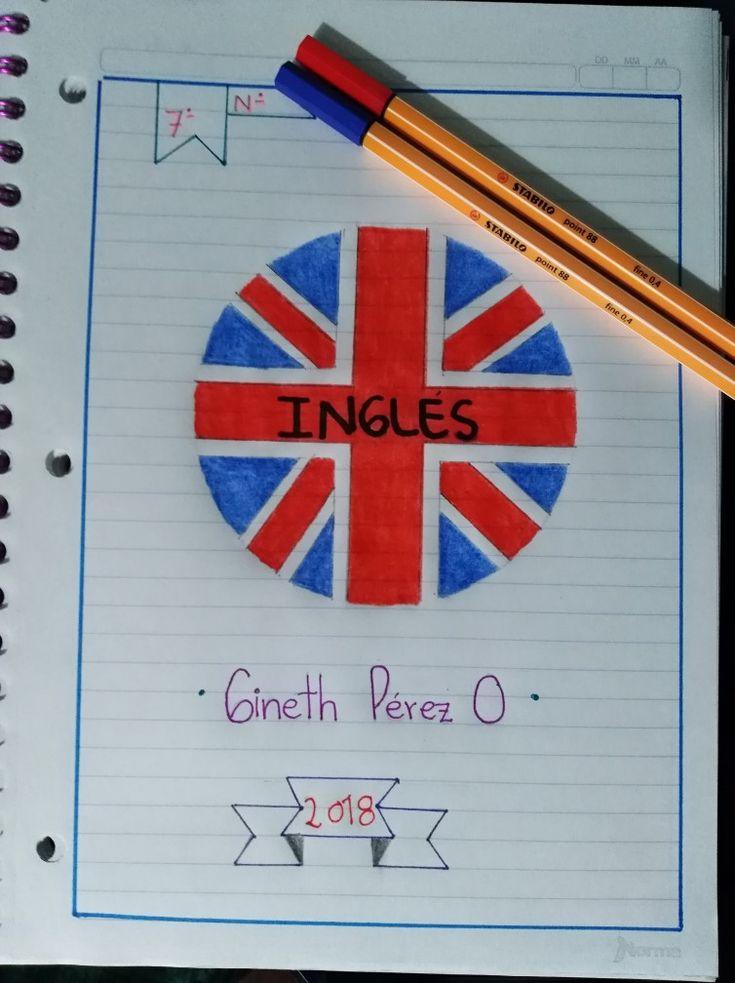 Portada cuaderno de Inglés