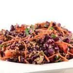 Rode kool salade met tahin dressing