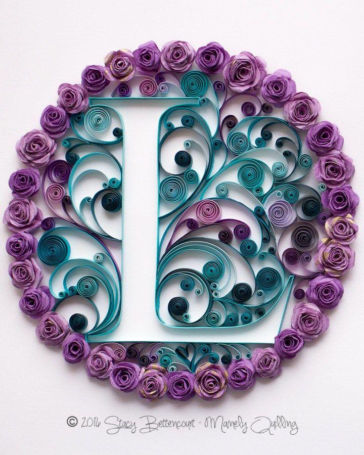 Rose Wreath Monogram
