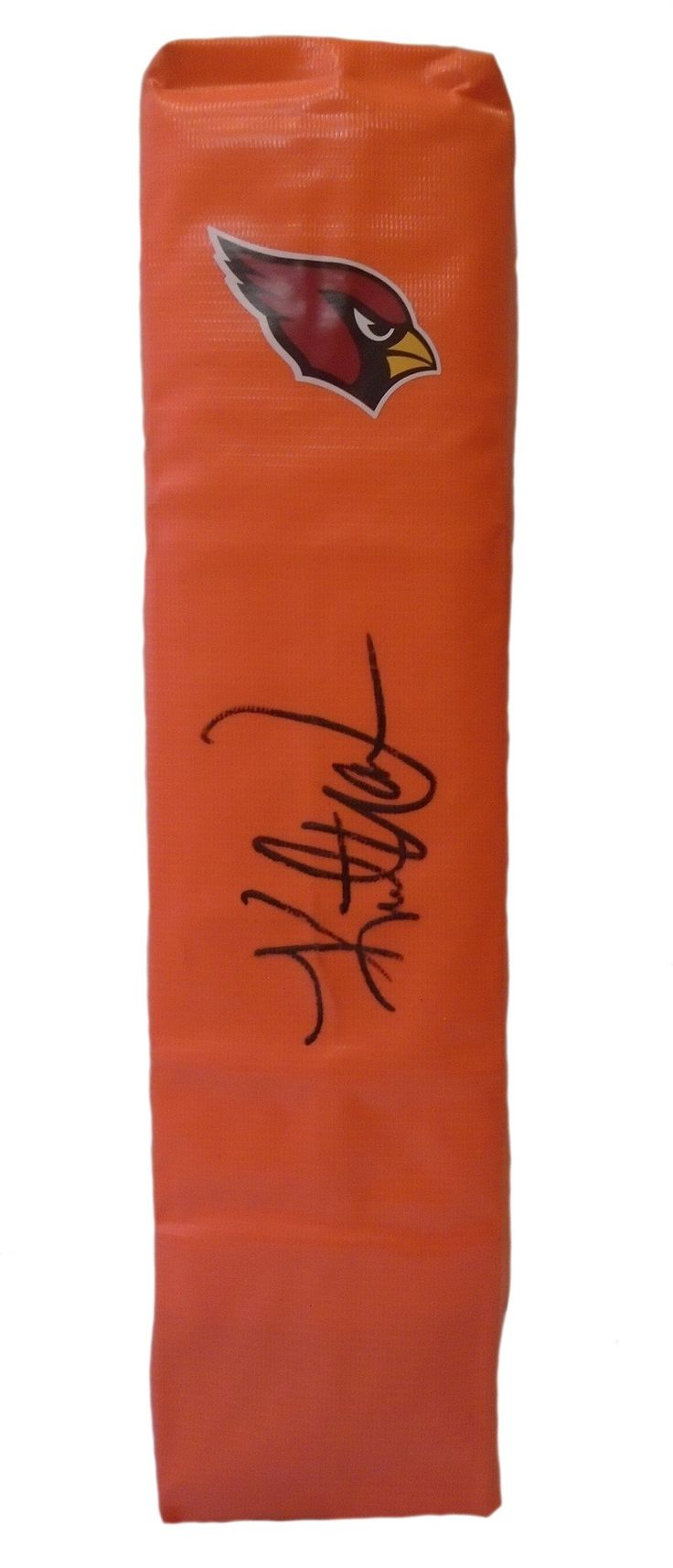 Kurt Warner Autographed Arizona Cardinals Full Size Football End Zone Touchdown Pylon. This is a brand-new custom Kurt Warner signed Arizona Cardinals logo full size football end zone pylon.  This pylon measures 4 inches (Width)  X 4 inches (Length) X 18 inches (Height).  Kurt signed the pylon in black sharpie. Check out the photo of Kurt signing for us. ** Proof photo is included for free with purchase. Please click on images to enlarge. Please browse our website for additional NFL & NCAA…