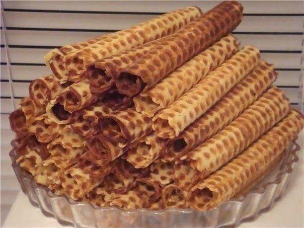 Самые вкусные рецепты: Вафельные трубочки