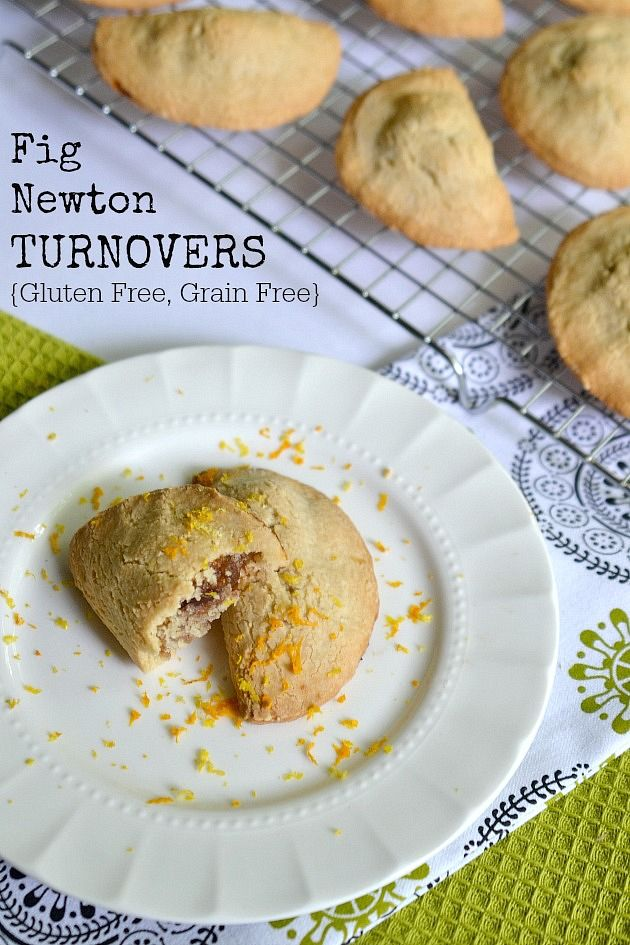 Fig Newton Turnovers {Gluten Free, Grain Free} This uses almond flour - my husband is allergic - could I use coconut or hazelnut flour? Hm.
