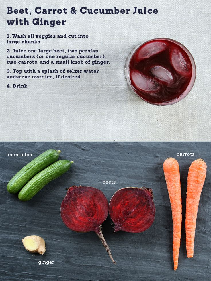 Beet, Carrot & Cucumber Juice with ginger.
