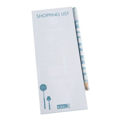 Magnetic Shopping List: Blue $12.95    Now even your shopping list can have a touch of style!    Place this handy Magnetic Shopping List on your fridge or any metallic surface and jot down purchases as you go. Once it's time for grocery shopping, simply tear off the list and bring to the shops. Too easy.    Ideal gift for the busy house chef.
